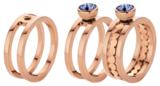 Melano Twisted Ring Tina Edelstaal Rose Goudkleurig Zirkonia Crystal_
