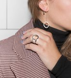 Melano Friends Ring & Teardrop Earring Zilverkleurig_