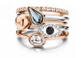 Melano Twisted Ring Rose Goudkleurig Petit 1mm_