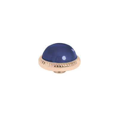 Melano Vivid Meddy Ball 12mm Rose Goudkleurig Zirkonia Navy Blue