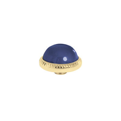 Melano Vivid Meddy Ball 12mm Goudkleurig Zirkonia Navy Blue