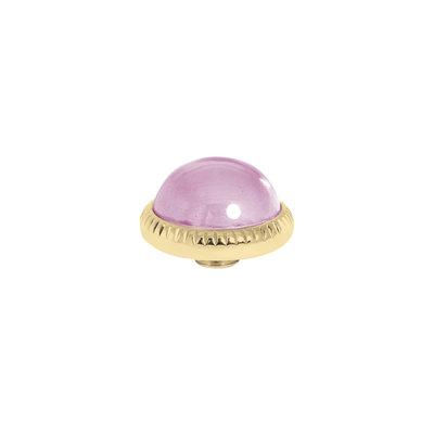 Melano Vivid Meddy Ball 12mm Goudkleurig Zirkonia Blossom