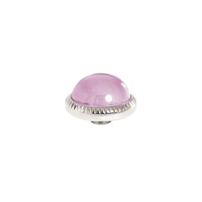 Melano Vivid Meddy Ball 12mm Zilverkleurig Zirkonia Blossom