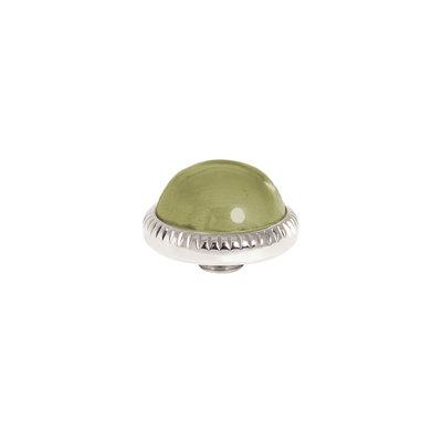 Melano Vivid Meddy Ball 12mm Zilverkleurig Zirkonia Olive
