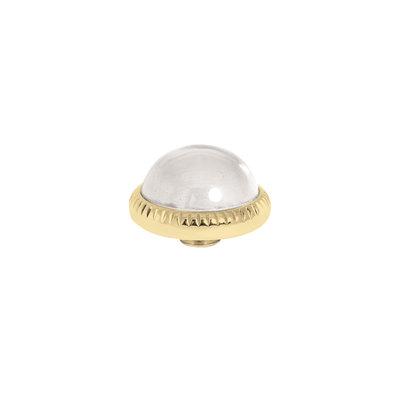 Melano Vivid Meddy Ball 12mm Goudkleurig Zirkonia Crystal