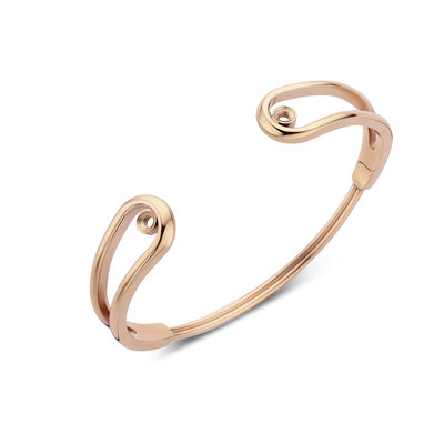 Melano Twisted Double Loop Armband Rose Goudkleurig