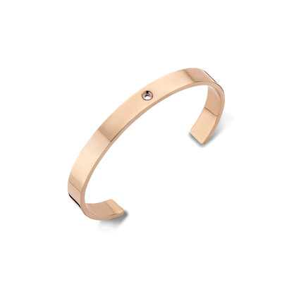 Melano Twisted Wide Armband Rose Goudkleurig
