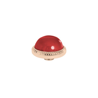 Melano Vivid Meddy Ball 12mm Rose Goudkleurig Zirkonia Ruby Red