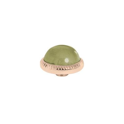 Melano Vivid Meddy Ball 12mm Rose Goudkleurig Zirkonia Olive