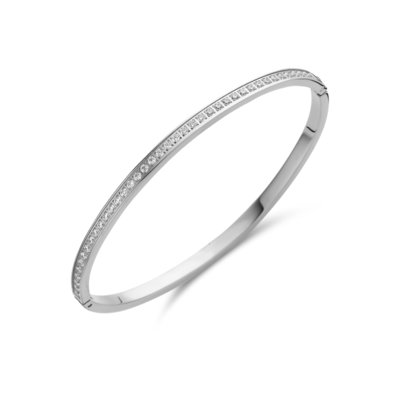 Melano Friends Armband Hinged Zilverkleurig Zirkonia Crystal