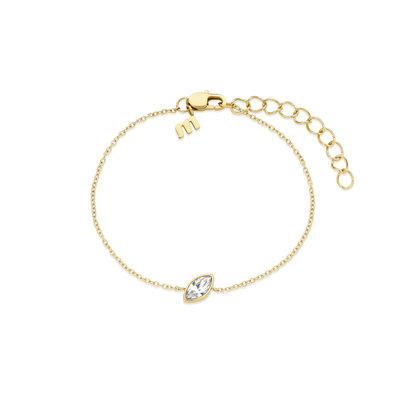 Melano Friends Armband Mini Marquise Goudkleurig Swarovski Crystal