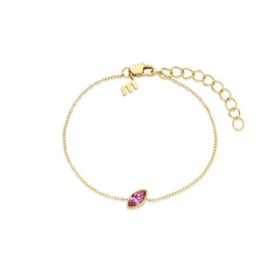 Melano Friends Armband Mini Marquise Goudkleurig Swarovski Rose