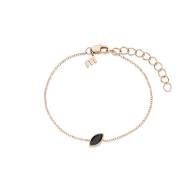 Melano Friends Armband Mini Marquise Rose Goudkleurig Swarovski Black