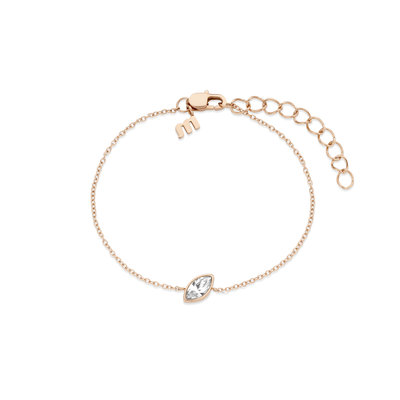 Melano Friends Armband Mini Marquise Rose Goudkleurig Swarovski Crystal