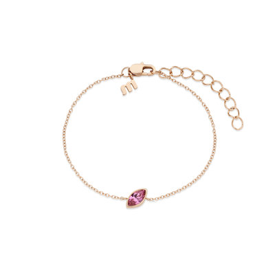 Melano Friends Armband Mini Marquise Rose Goudkleurig Swarovski Rose