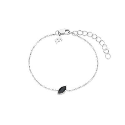 Melano Friends Armband Mini Marquise Zilverkleurig Swarovski Black