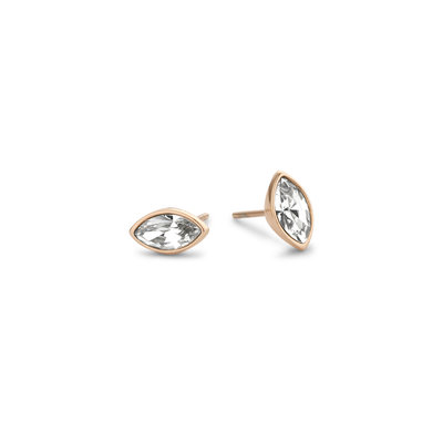 Melano Friends Oorbellen Marquise Rose Goudkleurig Swarovski Crystal