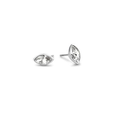 Melano Friends Oorbellen Marquise Zilverkleurig Swarovski Crystal