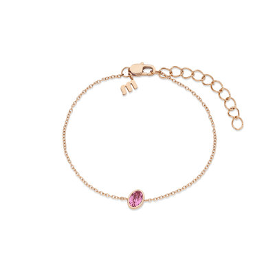 Melano Friends Armband Mini Oval Rose Goudkleurig Swarovski Rose