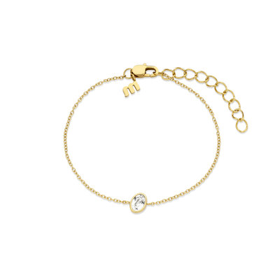 Melano Friends Armband Mini Oval Goudkleurig Swarovski Crystal