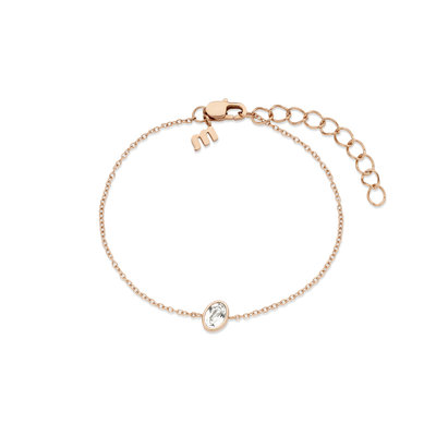 Melano Friends Armband Mini Oval Rose Goudkleurig Swarovski Crystal