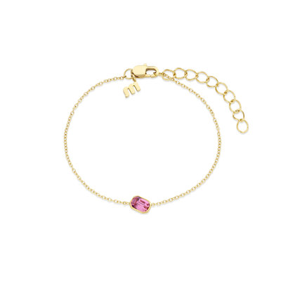 Melano Friends Armband Mini Pillow Goudkleurig Swarovski Rose
