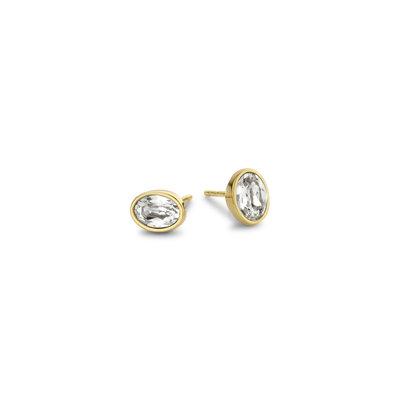 Melano Friends Oorbellen Oval Goudkleurig Swarovski Crystal