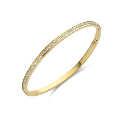 Melano Friends Armband Hinged Goudkleurig Zirkonia Crystal
