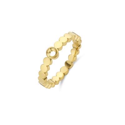 Melano Twisted Ring Wave Goudkleurig