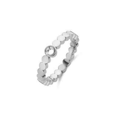 Melano Twisted Ring Wave Zilverkleurig