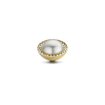 Melano Twisted Swarovski® Pearl and CZ stone Gold coloured