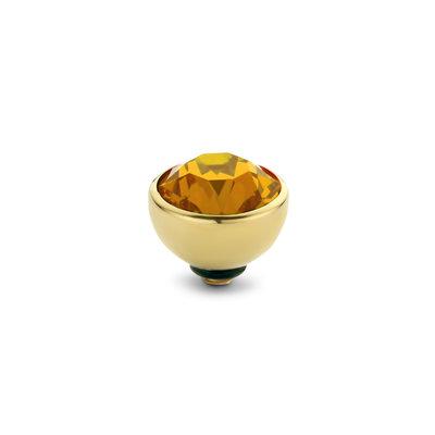 Melano Twisted Meddy Zirkonia Goudkleurig  Orange