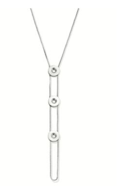 Melano Vivid Veroni 90 cm ketting zilverkleurig