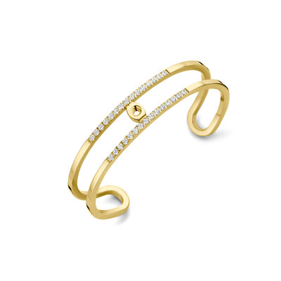 Melano Twisted Trixie CZ bangle goudkleurig