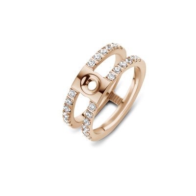 Melano Twisted Trista CZ ring rosekleurig