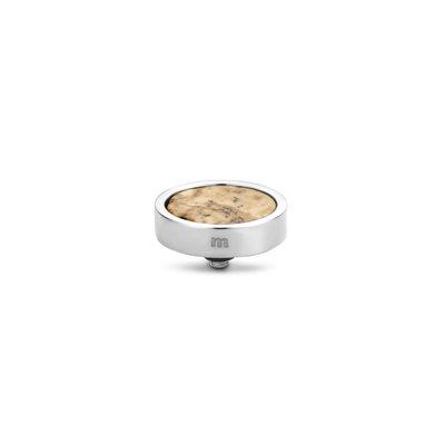 Melano Twisted Plate steentje zilverkleurig - Picture Jasper