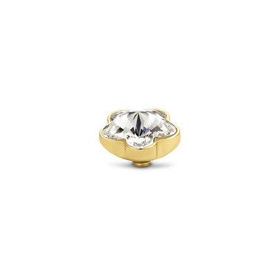 Melano Twisted Flower steentje goudkleurig  - Crystal