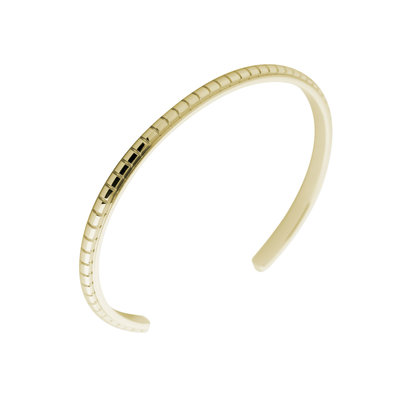 MelanO Friends Side Bangle Jessica Edelstaal Goud Engraved