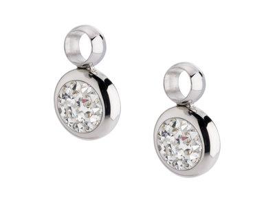 MelanO Gina Oorbelhangers Edelstaal Zilver Zirkonia Crystal