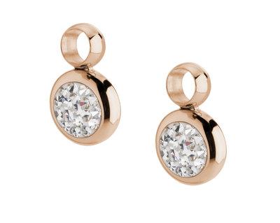 MelanO Gina Oorbelhangers Edelstaal Rose Goud Zirkonia Crystal