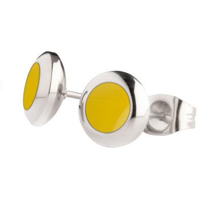 MelanO Vivid Oorstekers Resin Yellow