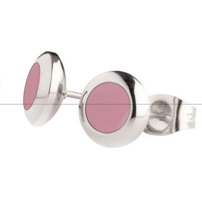 MelanO Vivid Oorstekers Resin Light Pink