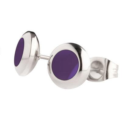 MelanO Vivid Oorstekers Resin Purple