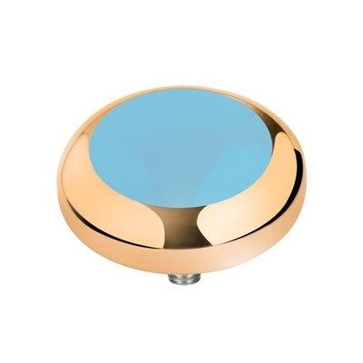 MelanO Vivid Setting Edelstaal Goud Light Blue