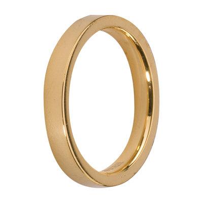 MelanO Steel Side Ring Goldplated, Glans