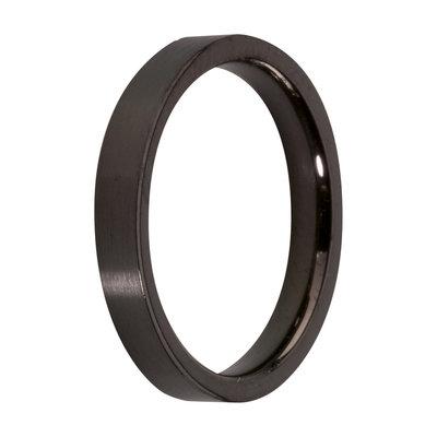 MelanO Steel Side Ring Black, Glans