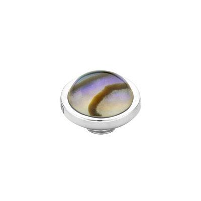 Melano Vivid Meddy Edelstaal Zilverkleurig Abalone 8mm