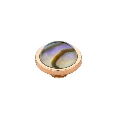Melano Vivid Meddy Edelstaal Rose Goudkleurig Abalone 8mm