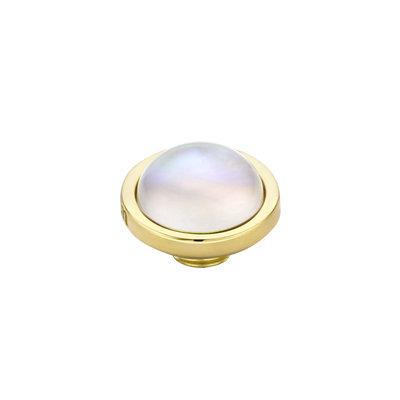 Melano Vivid Meddy Edelstaal Goudkleurig Sea Shell 8mm
