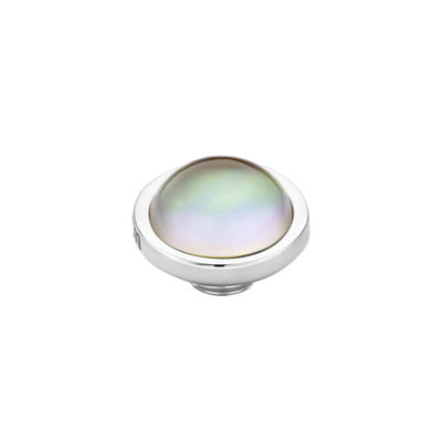 Melano Vivid Meddy Edelstaal Zilverkleurig Sea Shell 8mm